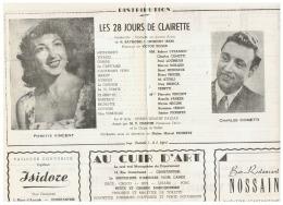 CONSTANTINE      LES  28 JOURS DE CLAIRETTE  1960 - Théatre & Déguisements
