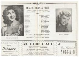 CONSTANTINE      QUATRE JOURS A PARIS   1960 - Théatre & Déguisements