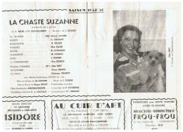 CONSTANTINE      LA CHASTE  SUZANNE  SAISON 1957  1958 - Théatre & Déguisements