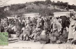7810. CPA TUNISIE. MARCHE ARABE. - Tunisie