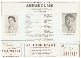 CONSTANTINE      ANDALOUSIE   1961 - Théatre & Déguisements