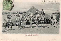 7812. CPA TUNISIE. FANTASIA ARABE. - Tunisie