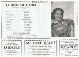 CONSTANTINE      LA BELLE DE CADIX  SAISON 1957 1958 - Théatre & Déguisements