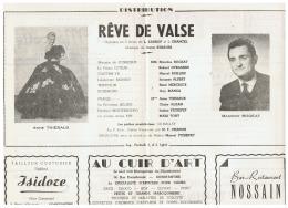 CONSTANTINE      REVE DE VALSE    1960 - Théatre & Déguisements