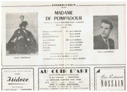 CONSTANTINE      MADAME DE POMPADOUR     1960 - Théatre & Déguisements