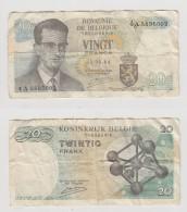 VINGT FRANCS - 15-06-64 - N°  4 A 5895602 - [ 2] 1831-... : Belgian Kingdom