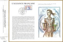 Sur Feuillet CEF , FDC 1983 Paris . L'ALLIANCE FRANCAISE . - FDC