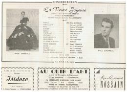CONSTANTINE      LA VEUVE JOYEUSE   1960 - Théatre & Déguisements