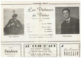 CONSTANTINE      LES PECHEURS DE PERLES    1960 - Théatre & Déguisements
