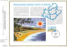 Sur Feuillet CEF , FDC 1983 Marseille . PROVENCE - ALPES - COTE D'AZUR . - FDC