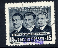 POLAND 1950 Currency Reform Handstamp On Socialist Leaders, Used.  Michel 666 - 1944-.... Republic