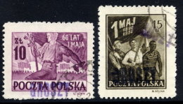 POLAND 1950 Currency Reform Handstamp On 1.May Anniversary Set, Used.  Michel 661-62 - 1944-.... Republic