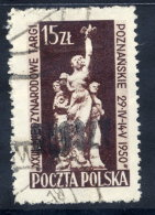 POLAND 1950 Currency Reform Handstamp On Poznan Fair, Used.  Michel 660 - 1944-.... Republic