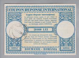 Rumänien Ganzsachen Coupon Réponse International 1947-04-11 Resita 20000 Lei - Entiers Postaux
