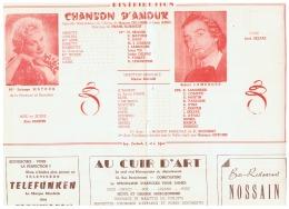 CONSTANTINE      CHANSON D'AMOUR     1961 - Théatre & Déguisements