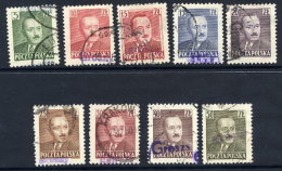 POLAND 1950 Currency Reform Handstamp On Beirut Definitive Set (1950)  Used.  Michel 650-58 - 1944-.... Republic