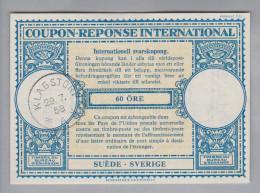 Schweden Ganzsachen Coupon Réponse International 1958-07-29 Klagstorp 60 Öre - Entiers Postaux