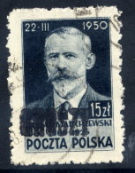 POLAND 1950 Currency Reform Handstamp On Marchewski Used.  Michel 649 - 1944-.... Republik
