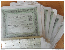 LOT De 10     Chemin De Fer De BAYONNE à BIARRITZ             1877 - Railway & Tramway