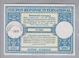 Schweden Ganzsachen Coupon Réponse International 1960-10-01 Huskvarna 70 Öre - Entiers Postaux