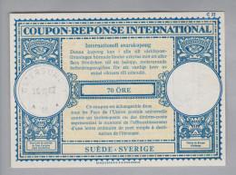 Schweden Ganzsachen Coupon Réponse International 1962-10-20 Östersund 70 Öre - Entiers Postaux