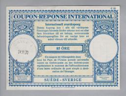 Schweden Ganzsachen Coupon Réponse International 1970-02-24 Gavle 4 85 Öre - Entiers Postaux