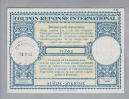 Schweden Ganzsachen Coupon Réponse International 1963-02-18 Bromma 75 Öre - Entiers Postaux