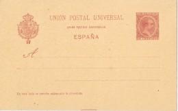 19333. Entero Postal 10 Ct Alfonso XIII Pelon 1892, Edifil Num 31A **