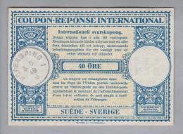 Schweden Ganzsachen Coupon Réponse International 1949-05-03 Norrköping 40 Öre - Entiers Postaux