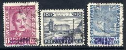 POLAND 1950 Currency Reform Handstamp On July Manifesto Set Used.  Michel 633-35 - 1944-.... Republik