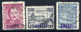 POLAND 1950 Currency Reform Handstamp On July Manifesto Set Used.  Michel 633-35 - Used Stamps