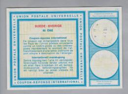 Schweden Ganzsachen Coupon Réponse International 1977-07-18 Angelholm 85 Öre - Entiers Postaux