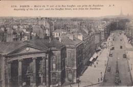 G , Cp , 75 , PARIS , Mairie Du Ve Arr. Et La Rue Soufflot, Vue Prise Du Panthéon - Other