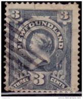 Newfoundland 1890, Queen Victoria, 3c, Scott# 60, Used - 1857-1861