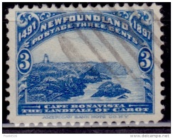 Newfoundland 1897, Cape Boavista, 3c, Scott# 63, Used - Terre-Neuve