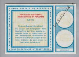 Algerien Ganzsache Coupon Réponse International Orleansville 0.80 DA - Algérie (1962-...)