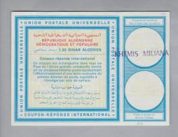 Algerien Ganzsache Coupon Réponse International Khemis Miliana 1.20 DA - Algérie (1962-...)