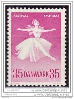 Denmark 1959, Ballet Dancer, MNH - Unused Stamps