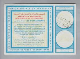 Algerien Ganzsache Coupon Réponse International Alger-RP 1.20 Dinar - Algérie (1962-...)