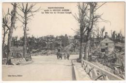 80 - MONTDIDIER Après La Grande Guerre - La Ville Vue De L'Avenue Carnot - Montdidier