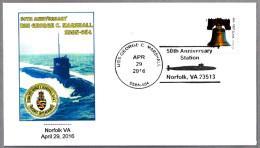 50 Años Submarino USS GEORGE C. MARSHALL (SSBN-654). Norfolk VA 2016