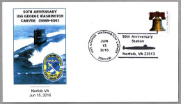 50 Aniv. Submarino USS GEORGE WASHINGTON CARVER SSBN-656. Norfolk VA 2016