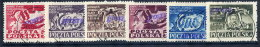 POLAND 1950 Currency Reform Handstamp On Class Unity Congress Set Used.  Michel 607-12 - 1944-.... Republic