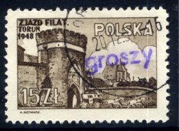 POLAND 1950 Currency Reform Handstamp On Torun Philatelic Congress Used.  Michel 606 - 1944-.... Republic