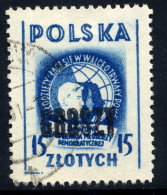 POLAND 1950 Currency Reform Handstamp On Youth Conference, Used.  Michel 604 - 1944-.... Republic