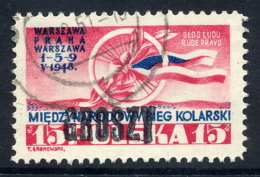 POLAND 1950 Currency Reform Handstamp On Cycle Tour, Used.  Michel 592 - 1944-.... Republic