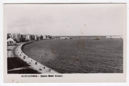 Egypte- ALEXANDRIA: Queen Nazli Avenue -CPA -scans Recto-verso - Alexandrie