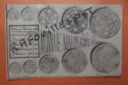 C P Monnaie Marocaine  ( Argent) Tampon Campagne Du Maroc Casablanca - Coins (pictures)