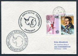1985 B.A.T. Antarctic Card Faraday, RRS Bransfield Survey Ship - British Antarctic Territory  (BAT)