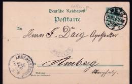 Postkarte Metz  Moselle 1906 Cachet Allemand Pour Amberg Bayern Oberpfalz - Metz